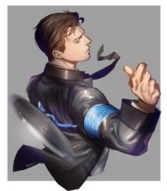 Connor (Detroit: Become Human) Image - Zerochan Anime Image Board Life Is Strange, Luther, Detroit Game, Quantic Dream, Detroit Become Human Connor, Becoming Human, Fanart, Human Art, Illustration