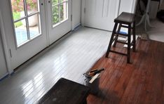 Painted wood floors can be an economical way to provide your customers the updated look they want without removing the old floor completely.                                                                                                                                                     More