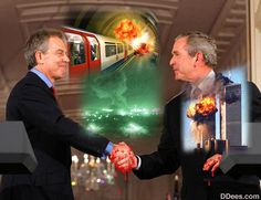 Image result for bush blair terror shaking hands images