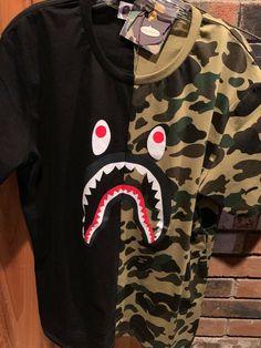 7952dfbc Bape Men's A Bathing Ape WGM Shark Head Camo Cotton T-Shirt Large - Shark  Tshirt - Latest Shart Tshirt ideas #sharktshirt #shark #tshirt