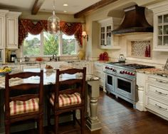houzz hamptons in the country kitchens    ... French Country Kitchen Decorating Ideas ...   Kitchens & bath