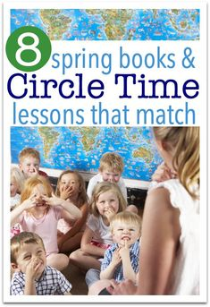 Preschool lesson plans for circle time. Great spring lessons for preschool with books to match. From @noflashcards