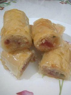 Greek Desserts, Greek Recipes, Cookbook Recipes, Dessert Recipes, Cooking Recipes, Baklava Recipe, Food Gallery, Spanakopita, Fresh Rolls