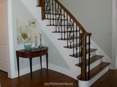 Grand Foyer painted Gray Owl in Morristown NJ by CraftPro Contracting Interior Painting