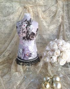 Mannequin Dress Form Display Fabric Bust Necklace Display