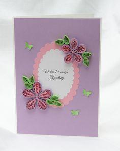 kartka urodzinowa quilling, handmade birthday cards