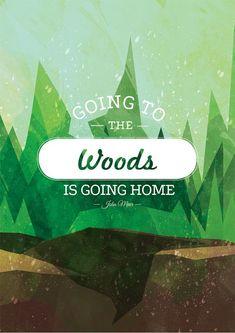 John Muir Quote Printable Art Woods Quote by PrintableRandoms