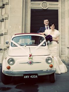 voiture mariage vintage fiat 500 blanc f te m. Black Bedroom Furniture Sets. Home Design Ideas