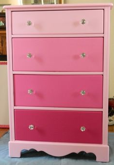 My version of the ombre dresser... in PINK!