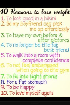 10 reasons to lose weight