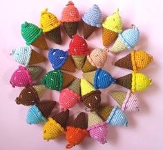 Crochet Food, Crochet Yarn, Christmas Knitting Patterns, Crochet Patterns, Handmade Crafts, Diy And Crafts, Yarn Thread, Amigurumi Toys, Crochet Earrings