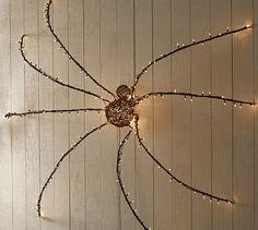 Lit Twig Giant Spider #potterybarn