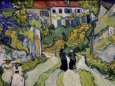 Stairway at Auvers, Vincent van Gogh, St. Louis Art Museum