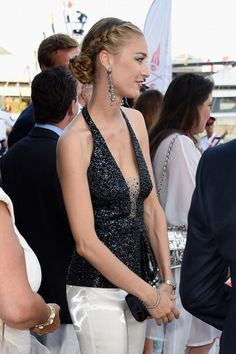 6.20.14 Beatrice Borromeo in Armani Prive F09 (Look 38) at Monaco Yacht Club Opening