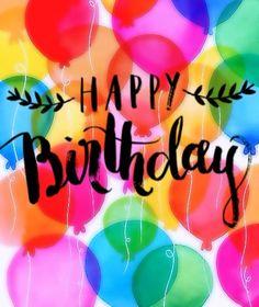 Happy Birthday (Feliz Clumpleaños) Happy Birthday Ballons, Birthday Wishes For Kids, Happy Birthday Signs, Birthday Blessings, Happy Birthday Pictures, Happy Birthday Messages, Happy Birthday Greetings, Holiday Wishes, Happy B Day