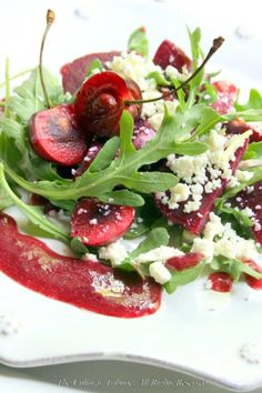 Cherry and Beet Salad with Cherry Mustard Dressing