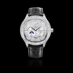 9b2327512e1 Piaget Emperador cushion-shaped Perpetual calendar  watch in white gold   diamond
