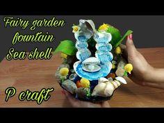 How to make Fairy garden fountain sea shell diy Cactus E Suculentas, Plaster Crafts, Diy Fountain, Seashell Crafts, Craft Work, Sea Shells, Diy And Crafts, Make It Yourself, Fairy Gardens