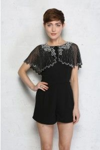 0a04e2b4f4 Beaded Playsuit - Lace and Beads