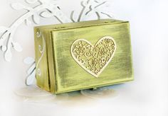 Vintage Wooden Distressed Box with Heart 51/2 x by MyHouseOfDreams, $24.00