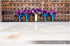Kimberly Jarman Photography, purple and turquoise wedding bouquets,  #KimberlyJarmanPhotography #Wedding #WeddingDetails