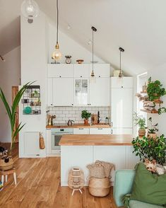 Modern Home Decoration .Modern Home Decoration Home Decor Kitchen, Kitchen Interior, Home Interior Design, Home Kitchens, Interior Decorating, Interior Paint, Kitchen Ideas, Scandinavian Style Home, Nordic Home