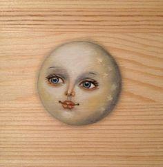 Beautiful moon face on wooden panel Sun Moon Stars, Sun And Stars, Moon Face, Moon With Face, Vintage Moon, Moon Shadow, Moon Illustration, Moon Pictures, Moon Magic