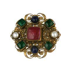 Chanel Renaissance Style Crest; Workshop Goossens. 1950s