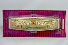 1970s NOS Amerock French Provincial White Gold Pull & Backplate by MorningGloryModerne, $14.99