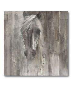 This Horse Light & Shadow Wrapped Canvas is perfect! #zulilyfinds