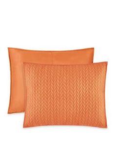 J Queen New York Camden Pillow Sham - Orange - King
