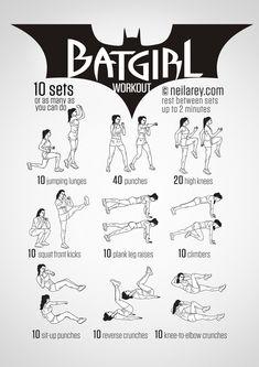 Batgirl Workout