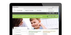 Reference Prototype: State landing page for consumer health care enrollment