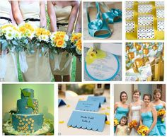 Turquoise And Yellow Wedding Only Cobalt Blue Instead Of Turquoise