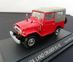 1:43 EBBRO TOYOTA LAND CRUISER BJ 40 RED JAPAN DIECAST CAR FREE SHIPPING