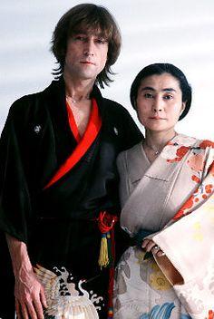 John & Yoko in kimonos