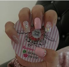 Uñas lind as Love Nails, Pretty Nails, Gorgeous Nails, Cute Acrylic Nails, Matte Nails, Pink Holographic Nails, Nail Candy, Square Nails, Stylish Nails
