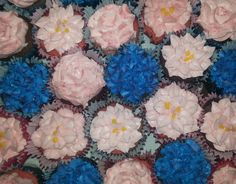 Strawberry and Chocolate flower Cupcakes.