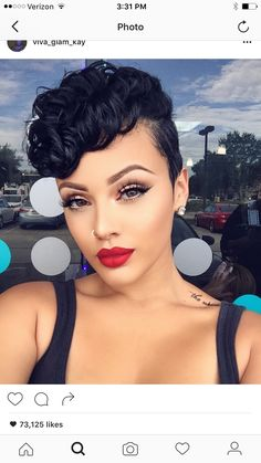 See the most popular pixie cut looks that can make any woman look chic! Afro Hair Style, Curly Hair Styles, Natural Hair Styles, Pixie Styles, Viva Glam Kay, Coiffure Hair, Pelo Pixie, Sassy Hair, Black Girls Hairstyles