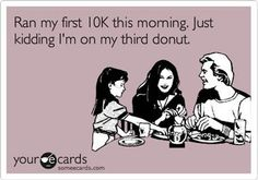 Too funny!  Sadly, there are days I can relate! (Except cookies are my weakness!)