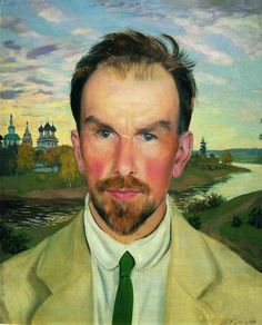 Portrait of an Art Historian and Restorer Alexander Anisimov, 1915  by Boris Kustodiev
