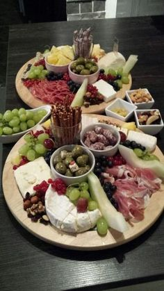 Party platter/antipasti with cheese, meat and fruit by jody