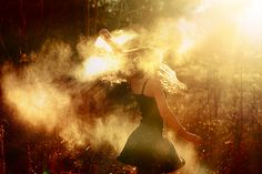 Throwing flour around at golden hour - now there's a fun idea