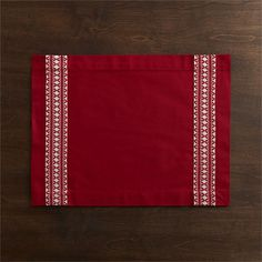 Malmo Placemat and Winter Flower Napkin | Crate and Barrel