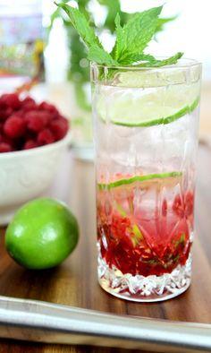 Raspberry Vodka Mojito from @creativculinary