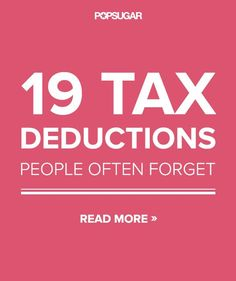 Don't Miss Out on the 19 Most-Overlooked Tax Deductions Credit, Credit Scores, Credit Repair #credit #creditscore