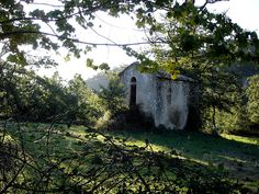 This little chapel is near Bastelica, Corse.  It is surrounded by two little cemeteries of three/four tombs each.