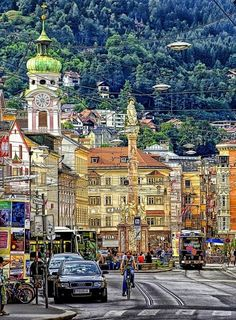 Innsbruck in Tyrol, Austria. I remember all the gold on the roofs, so beautiful