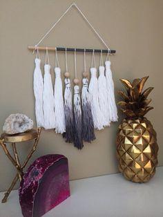 tassel mobile tassel garland yarn wall hanging dip by PineapplePhi