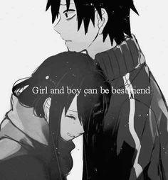 Yeah bestfriend,That boy's face answer it all.